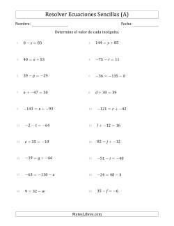 Búsqueda de MatesLibres: ejercicios de ecuaciones