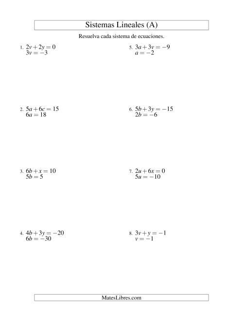 Contemporáneo Ecuaciones De Palabra Respuestas De Hoja De Cálculo ...