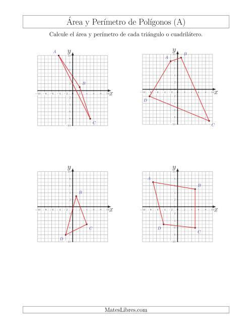 Calcular el Área y el Perímetro de Triángulos y Cuadriláteros a ...