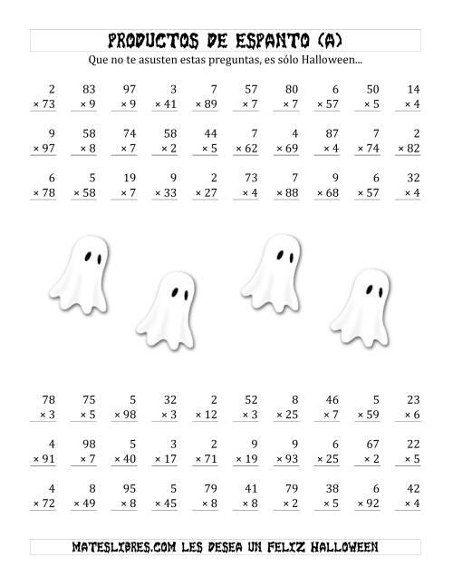 Famoso Halloween Hojas De Trabajo De Matemáticas Temática Regalo ...