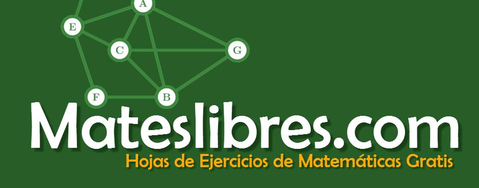 Hojas gratuitas de ejercicios de matemáticas de multiplicación, fracciones, suma, geometría y muchos otros temas de matemáticas.
