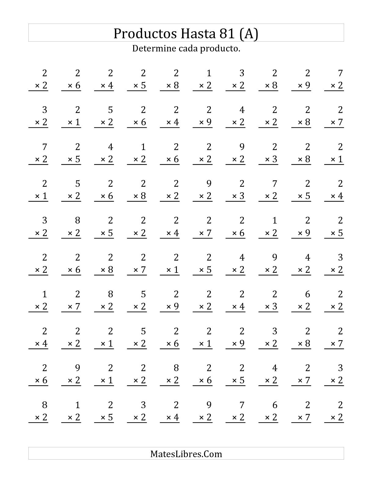 mad math minute worksheets
