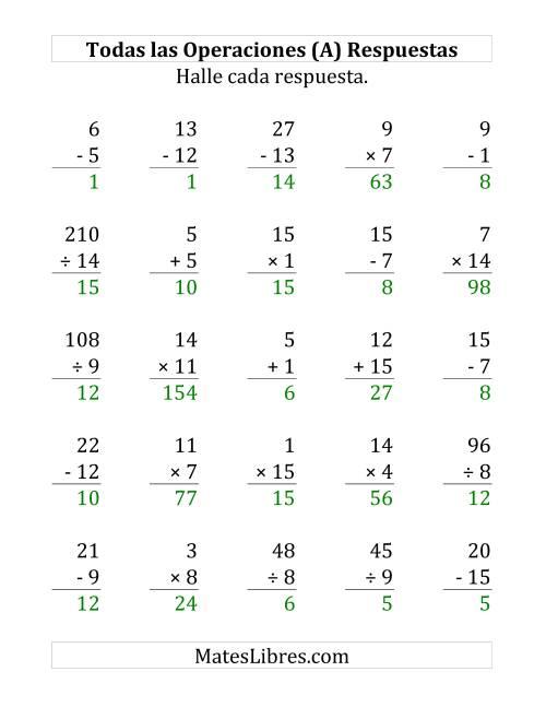 Ejemplos De Sumas Restas Multiplicaciones Y Divisiones Compartir Ejemplos