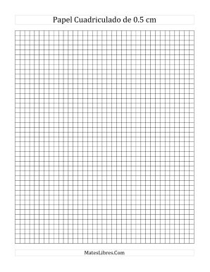 Papel Cuadriculado de 0.5 cm (A)