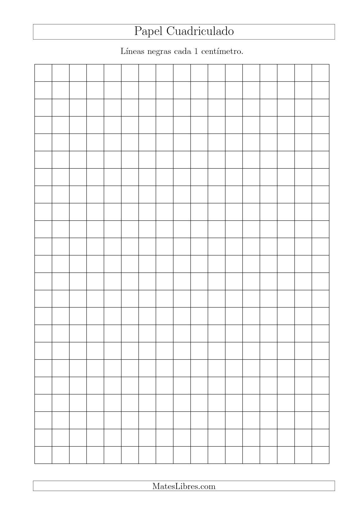 La Papel Cuadriculado de Líneas Negras cada 1cm, Tamaño de Papel A4 Hojas de Papel Cuadriculado