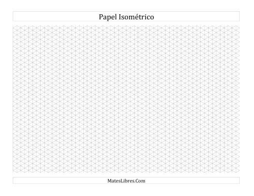 Papel Isométrico De 05 Cm Horizontal A