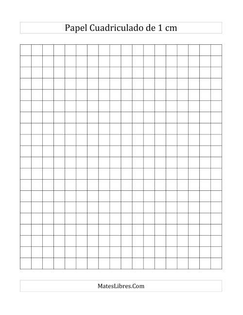 Papel Cuadriculado de 1 cm (A)