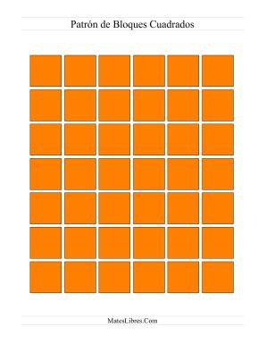 Hojas de Ejercicios de Patrones y Secuencias -- Bloques para Patrones (Color)