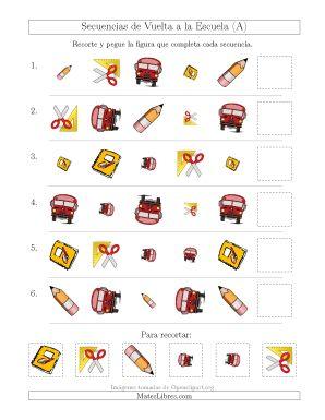 Secuencias de Imágenes de Vuelta a la Escuela Cambiando los Atributos Forma, Tamaño y Rotación (A)