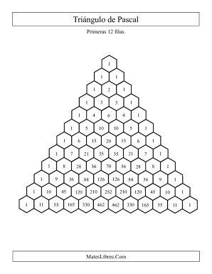Triángulo de Pascal (Relleno) (A)