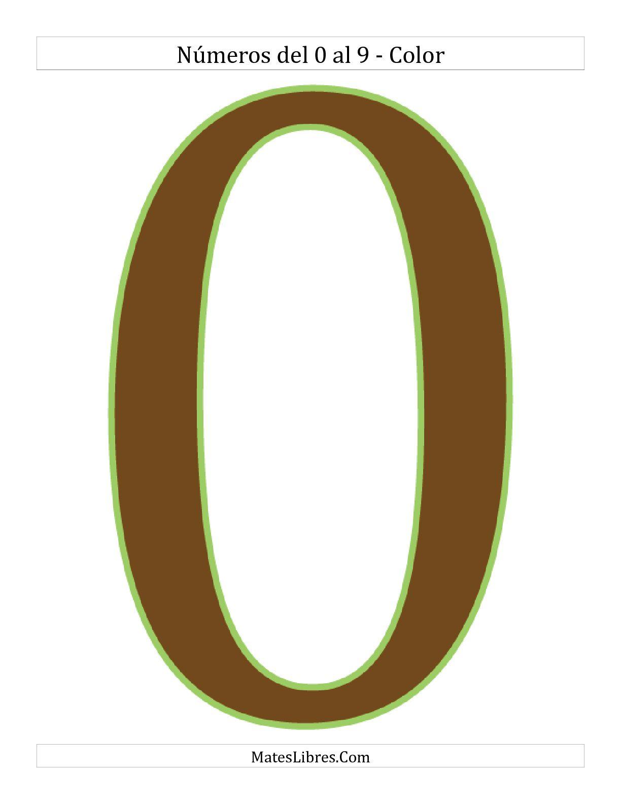 La Dígitos a Color Hoja de Ejercicio de Sentido Numérico
