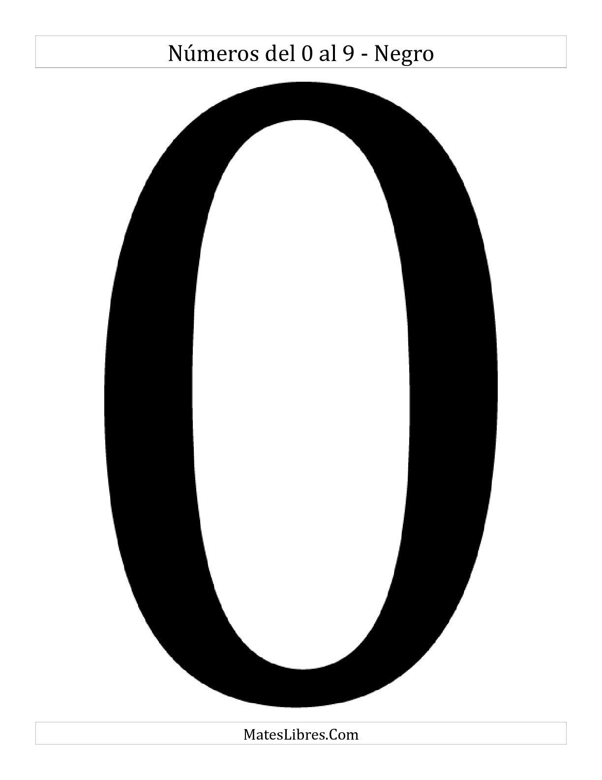 La Dígitos en Blanco y Negro Hoja de Ejercicio de Sentido Numérico