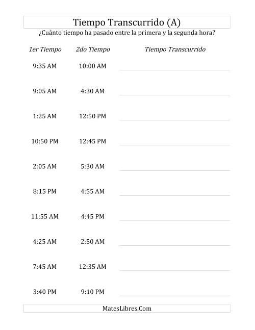 Medir Tiempo Transcurrido, Hasta 24 Horas en Intervalos de 5 Minutos (A)