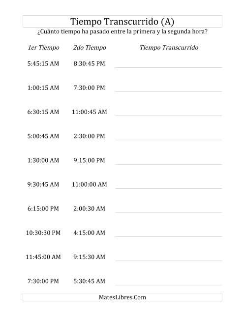 Medir Tiempo Transcurrido Hasta 24 Horas En Intervalos De 15 Minutos Y 15 Segundos A