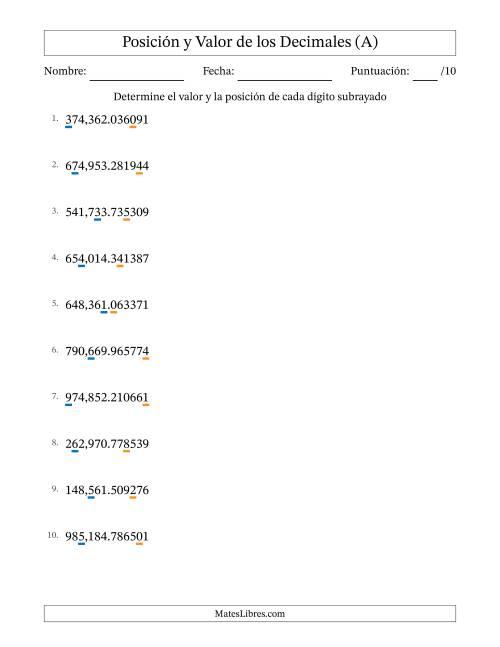 Magnífico Fracciones En Decimales Hojas De Trabajo Patrón - hojas de ...
